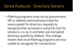 some features directory servers31
