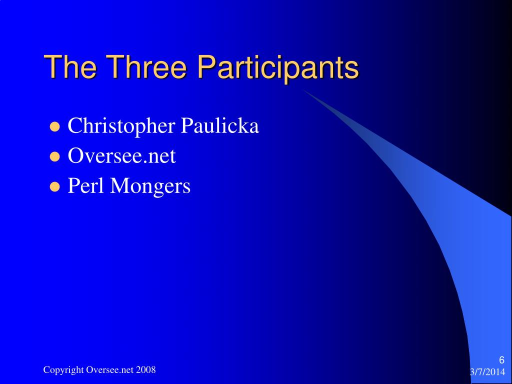 The Three Participants