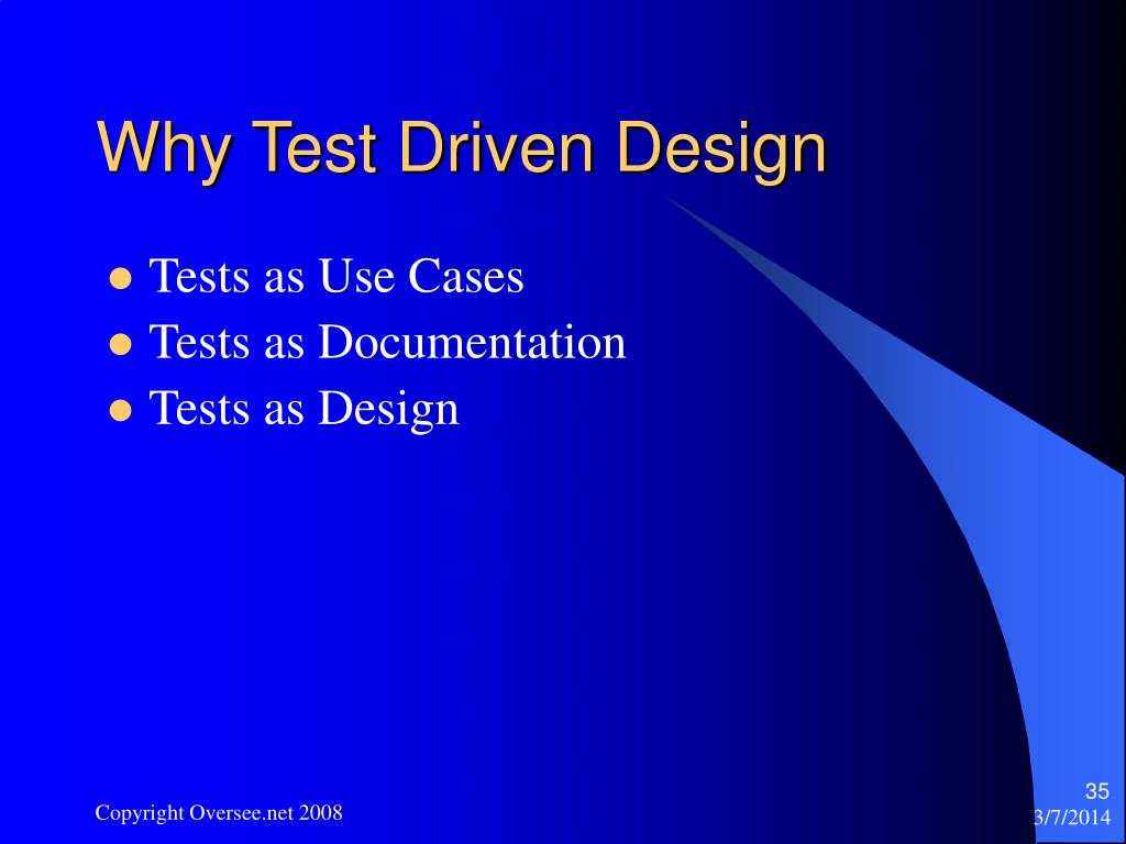 Why Test Driven Design