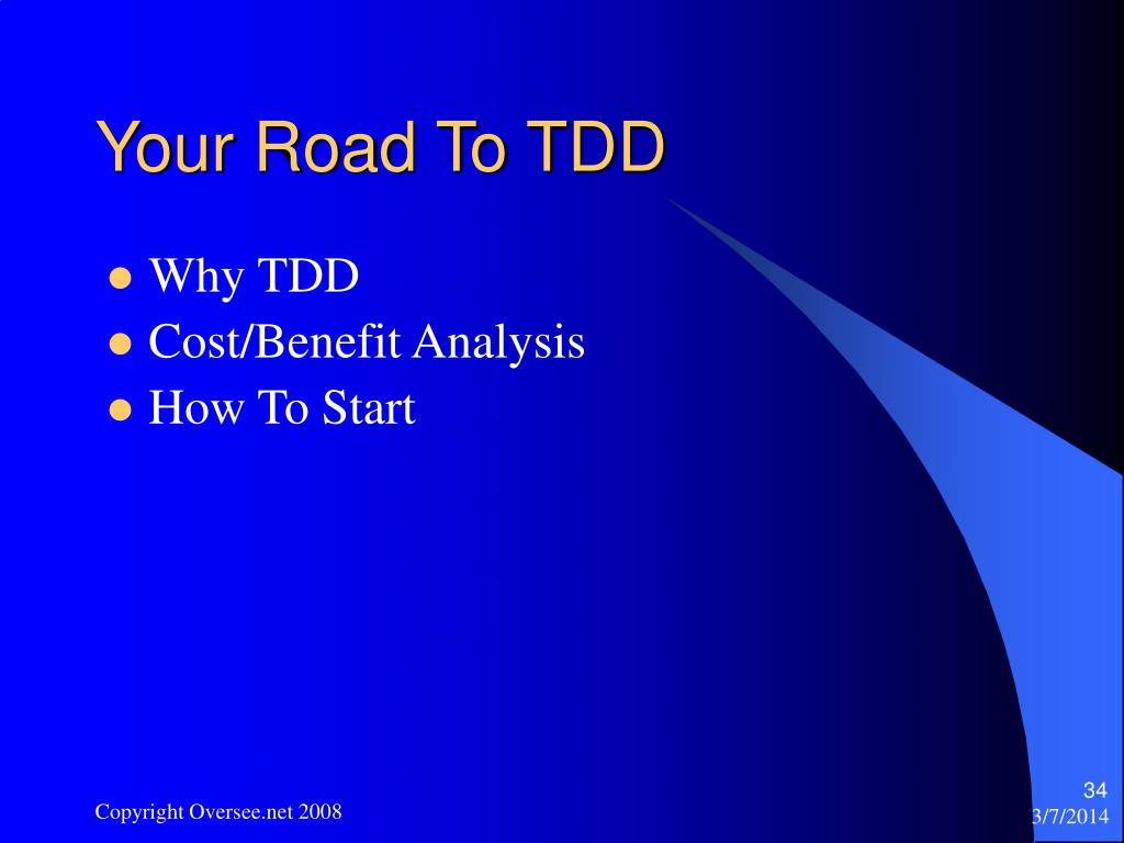 Your Road To TDD