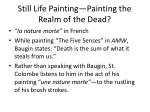 still life painting painting the realm of the dead