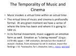 the temporality of music and cinema