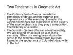 two tendencies in cinematic art