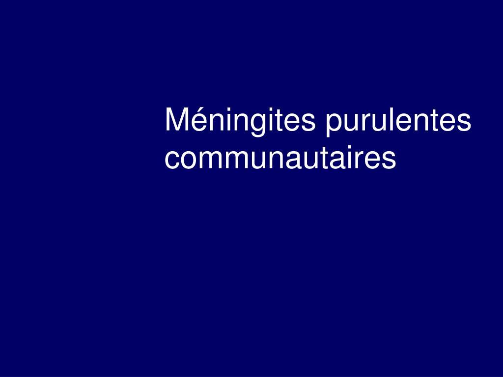 PPT - Méningite et Méningo-encéphalites PowerPoint ...