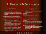 7 standards benchmarks