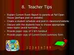 8 teacher tips