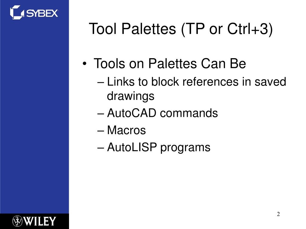 PPT - Chapter 3 – Customizing the AutoCAD Interface