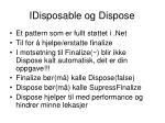 idisposable og dispose