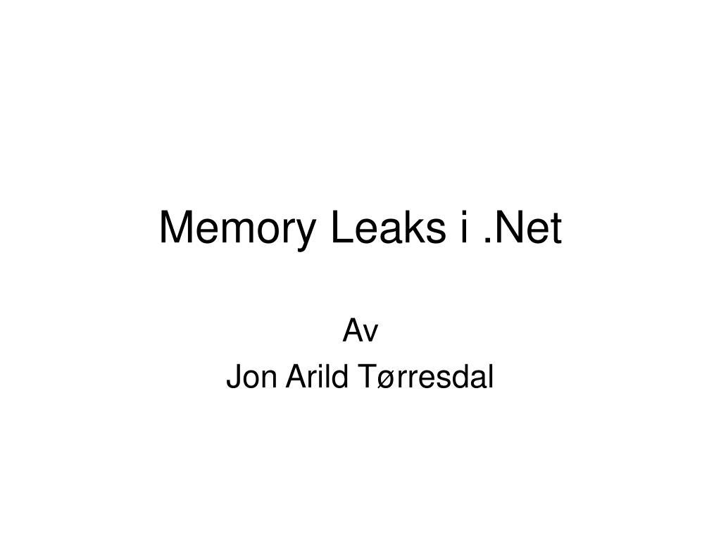 memory leaks i net l.