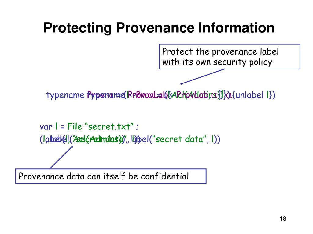 Protect the provenance label