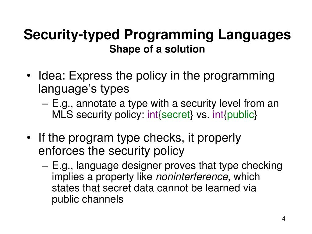Security-typed Programming Languages