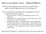 data as an attack vector tainted objects