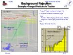 background rejection example charged particles in tracker