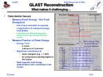 glast reconstruction what makes it challenging20