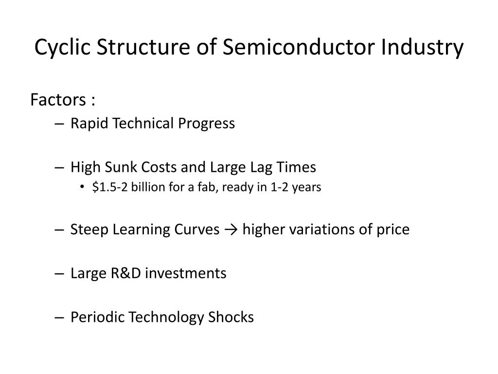 Cyclic Structure of Semiconductor Industry