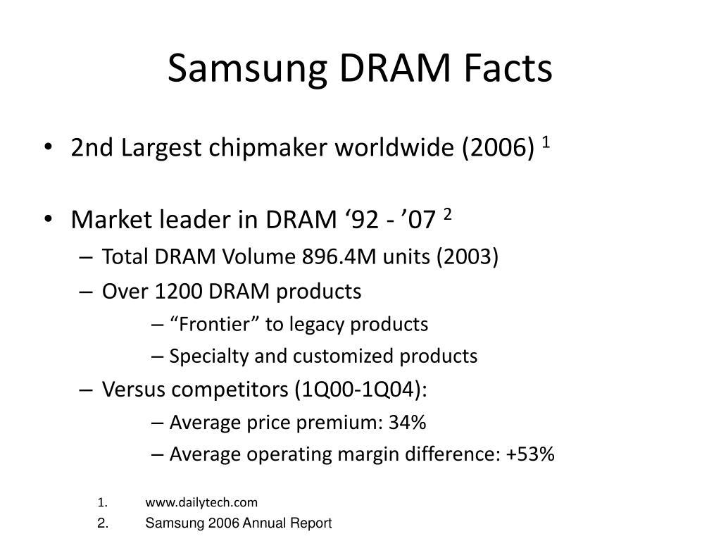 Samsung DRAM Facts