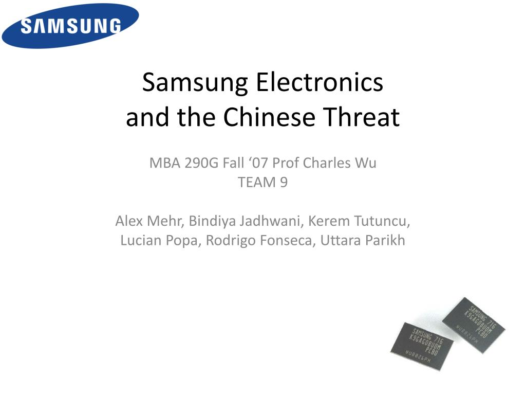 samsung electronics and the chinese threat l.