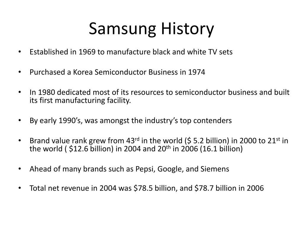 Samsung History