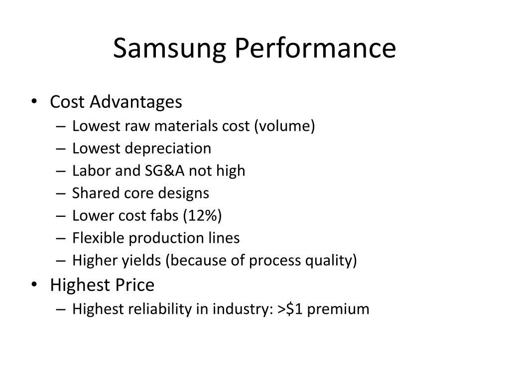 Samsung Performance