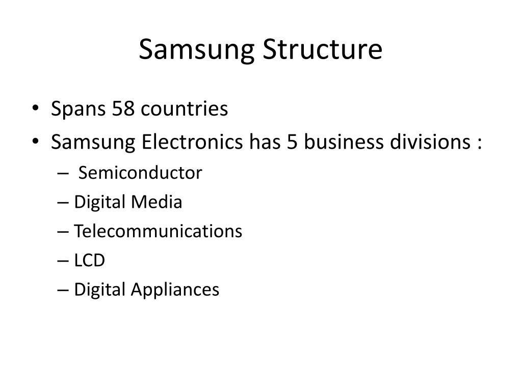 Samsung Structure