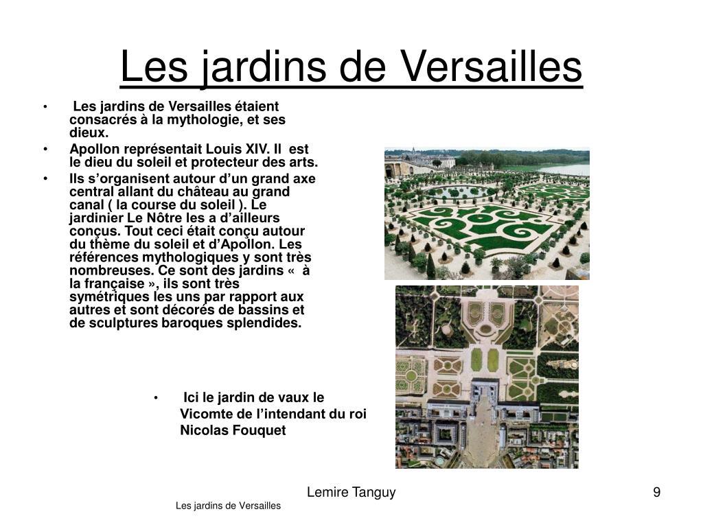 Les jardins de Versailles