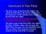 sanctuary in two parts