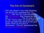 the ark of covenant