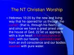 the nt christian worship