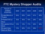 ftc mystery shopper audits
