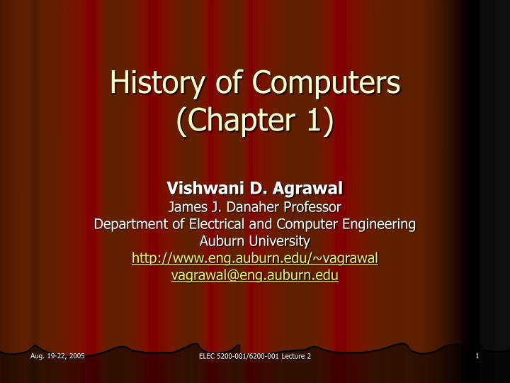 history of computers chapter 1 n.