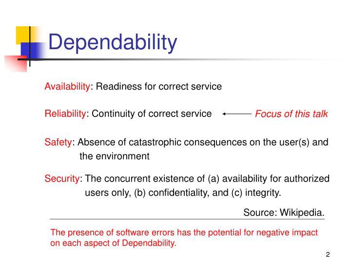 Dependability