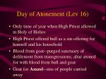 day of atonement lev 16