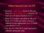 other social laws in ot