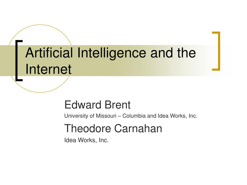 artificial intelligence and the internet l.