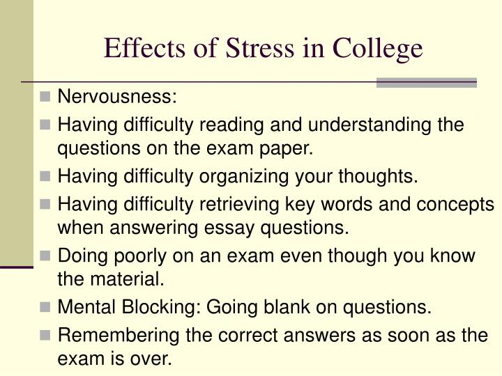 Effects of Stress in College