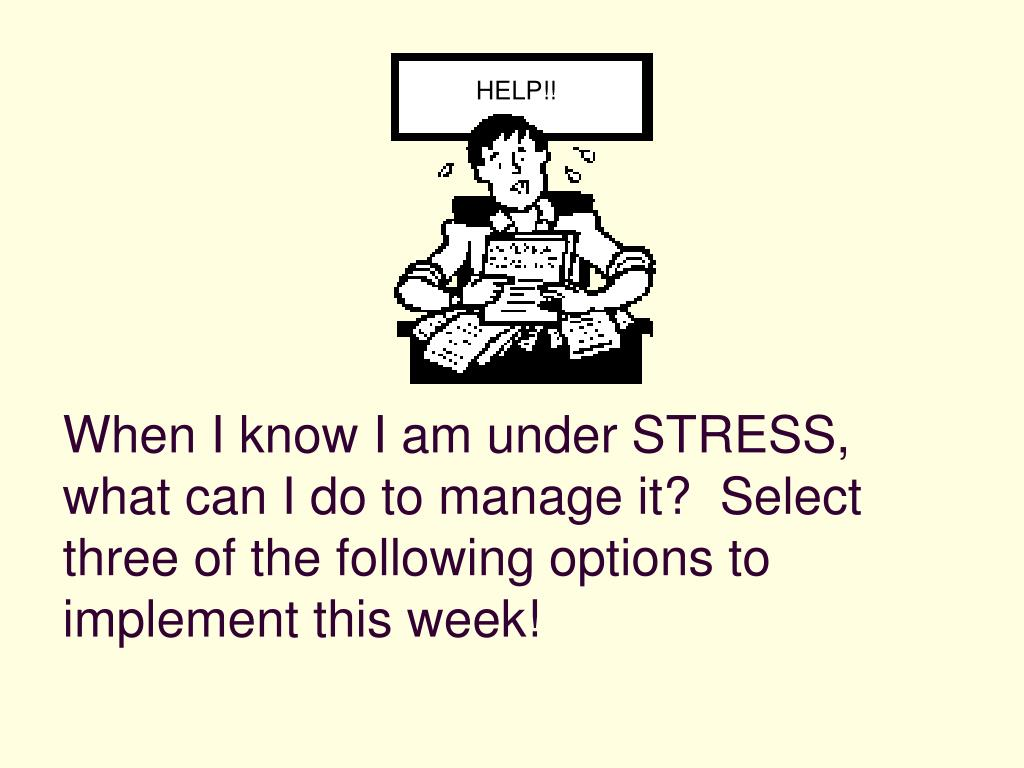 PPT - MANAGING COLLEGE STRESS PowerPoint Presentation - ID