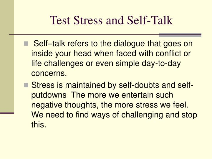 Test Stress and Self-Talk