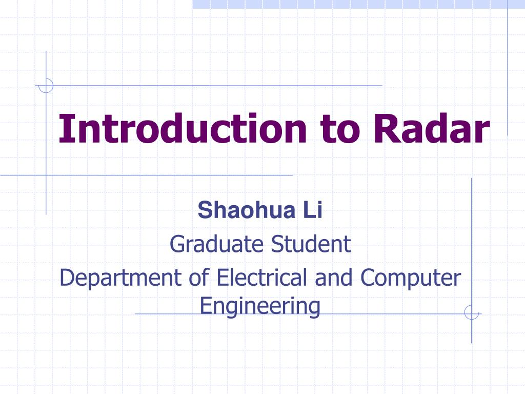 PPT - Introduction to Radar PowerPoint Presentation - ID:472424
