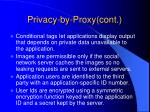 privacy by proxy cont