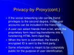 privacy by proxy cont19
