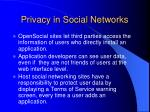privacy in social networks