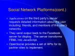 social network platforms cont