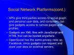 social network platforms cont14