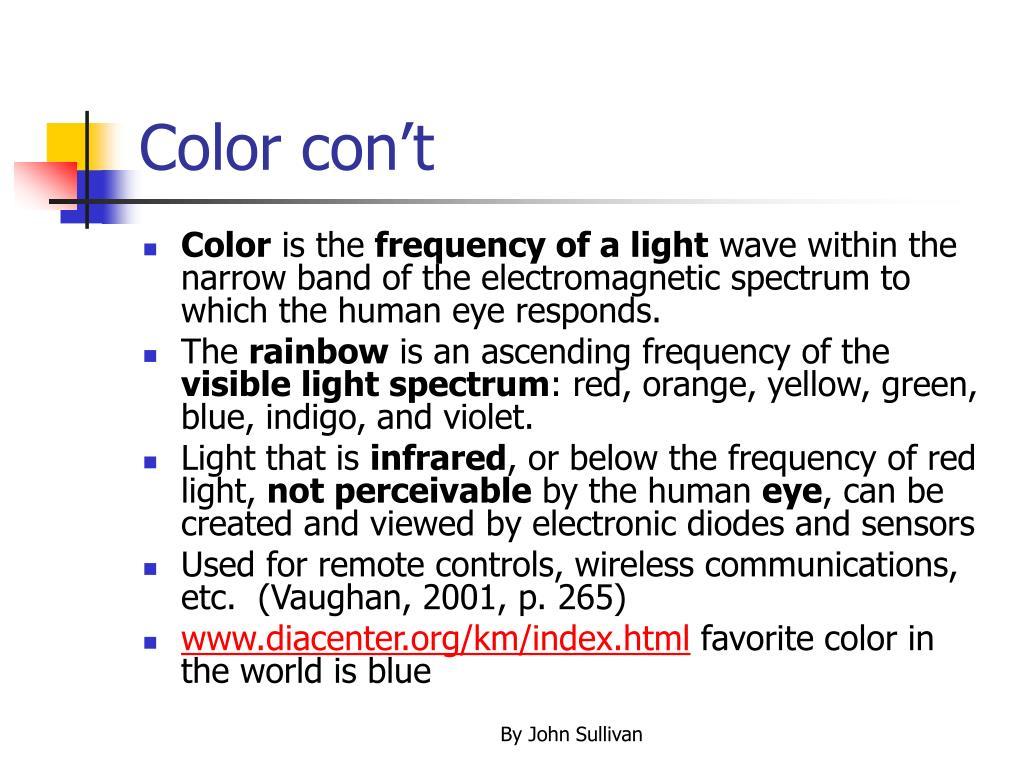 Color con't