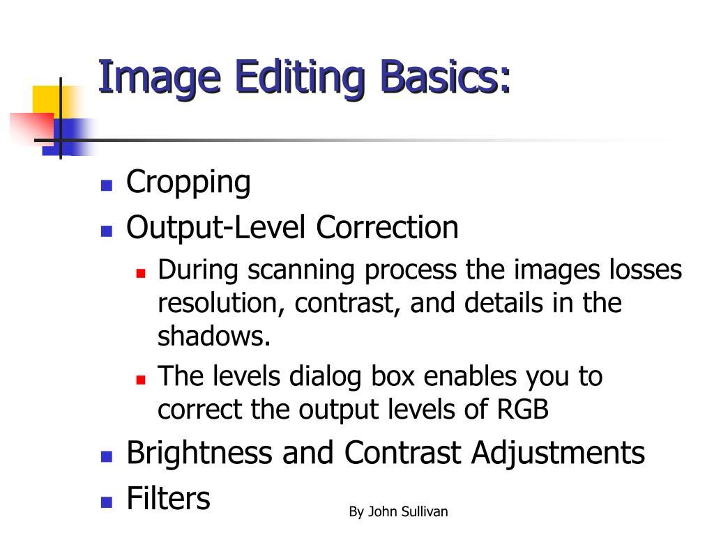 Image Editing Basics: