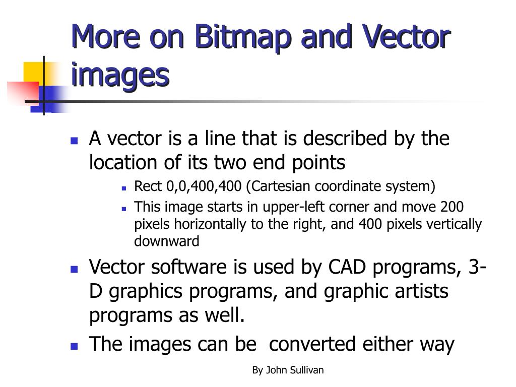 More on Bitmap and Vector images