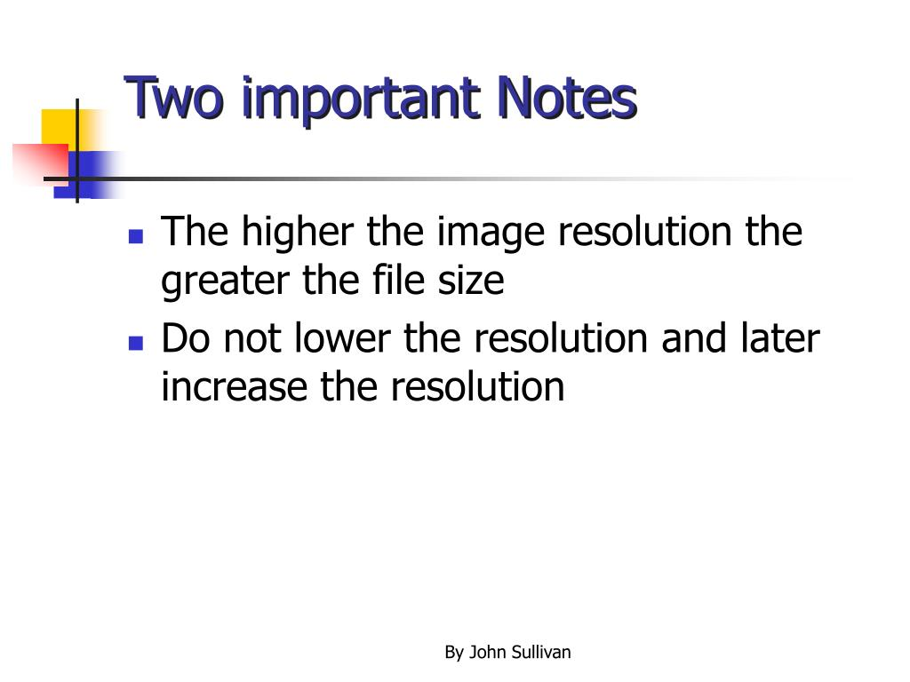Two important Notes
