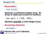 arrays 1 6