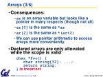 arrays 3 6