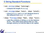 c string standard functions